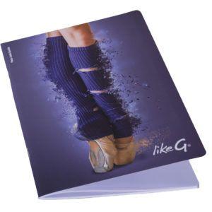 cahier bleu de la marque likeG