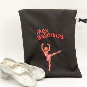 sac noir chausson danseuse