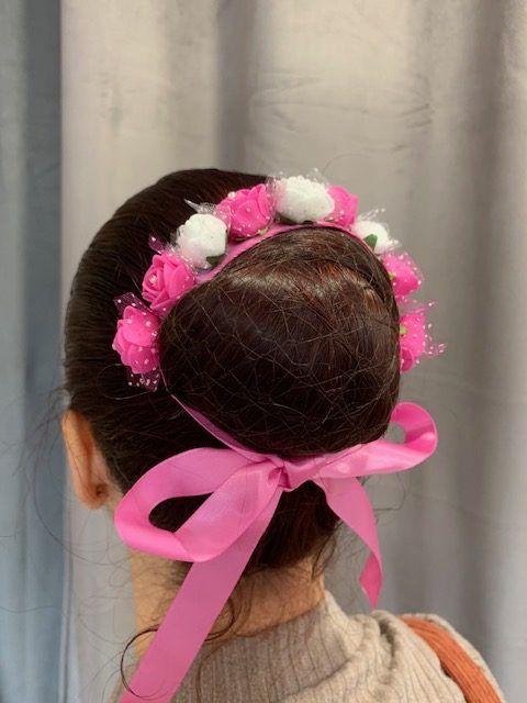 ruban à fleur rose de lydie danse